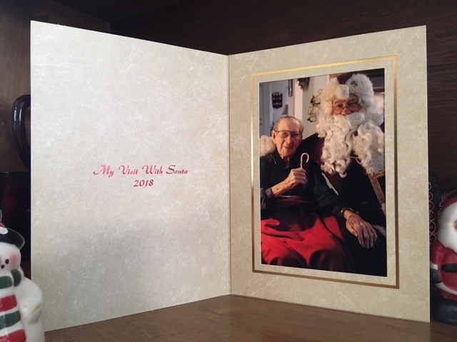 Santa Alberts Keepsake Image for making your celebration an unforgettable memory.